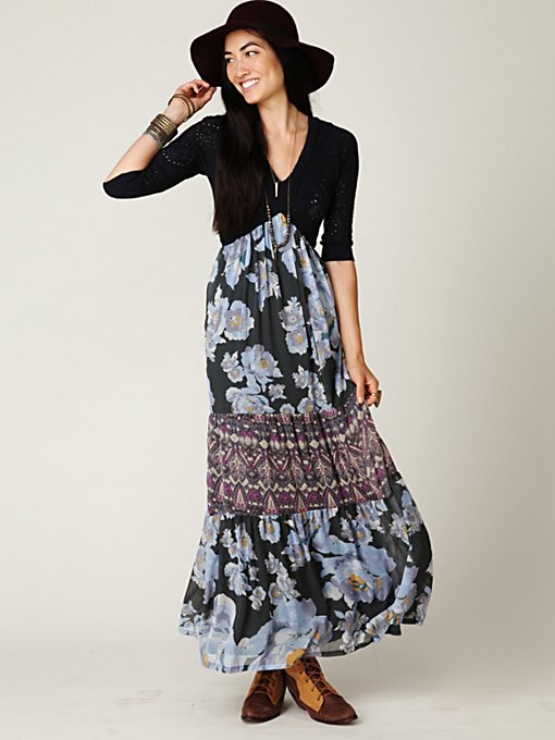Ethnic Rose Maxi Dress