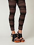 Two-Tone Ruffle Legging