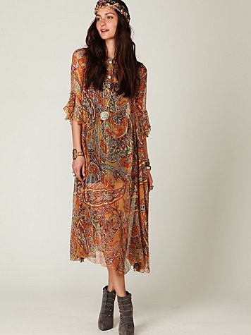 Sheer Paisleys Dress