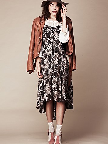 FP New Romantics Printed Buttondown Dress