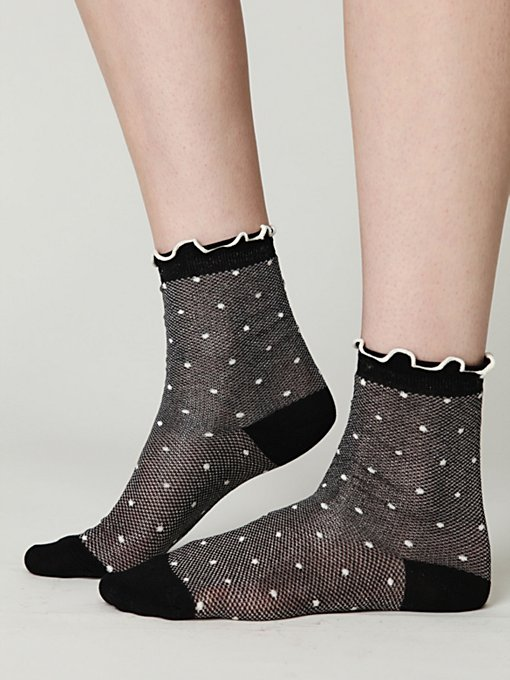 Mesh Dot Ankle Sock