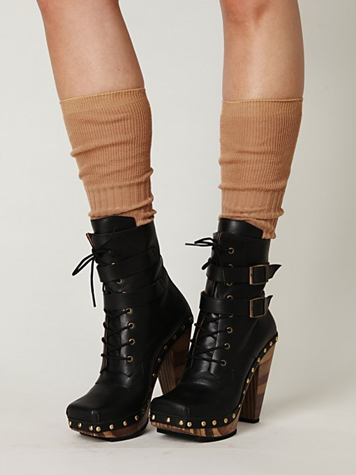 Conviction Wood Heel Boot