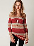 Stripe Tape Yarn Pullover