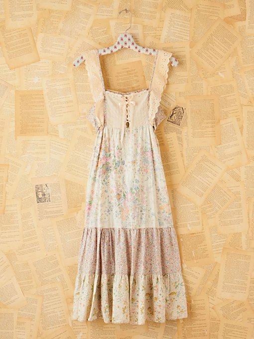 Free People Vintage Printed Tiered Hippie Dress in Vintage-Dresses