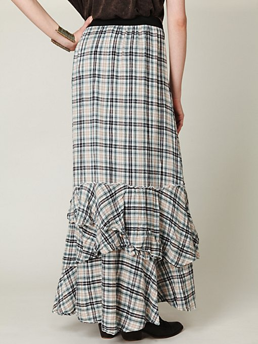 FP ONE Plaid Maxi Skirt