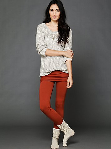 Nightcap Foldover Skinny Fleece Pant