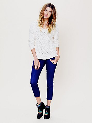 Free People FP 5 Pocket Ankle Crop Skinny