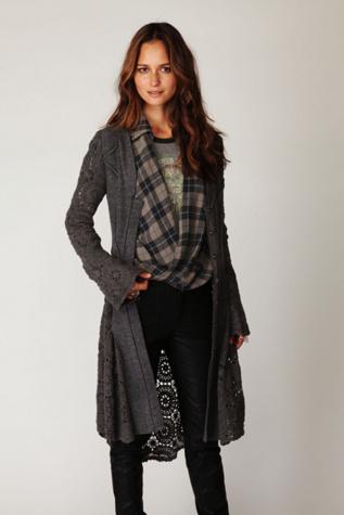Free Crochet Patterns For Long Jackets : CROCHET LONG SWEATER JACKET ? CROCHET PATTERNS