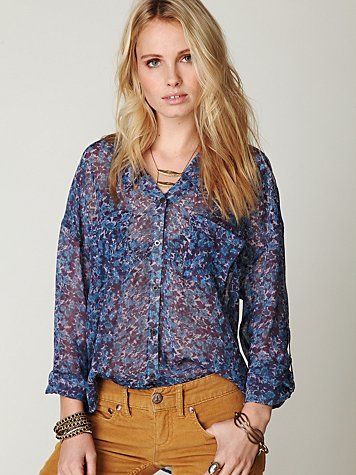 Floral Easy Rider Buttondown