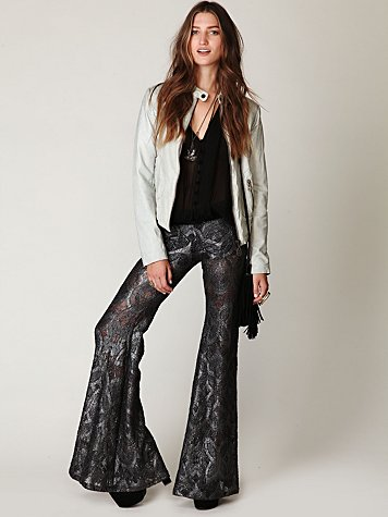 Metallic Lace Bell Bottom