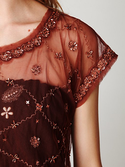 Crafty Embellished Crop Tee