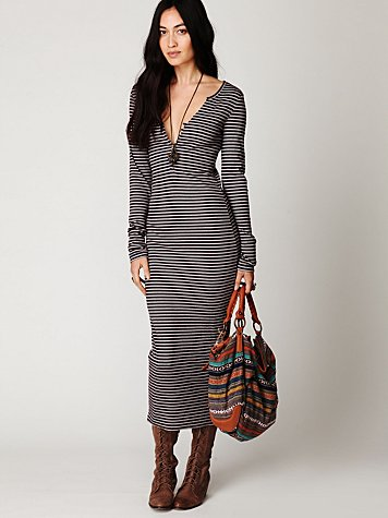 FP Beach Costas Striped Maxi Dress