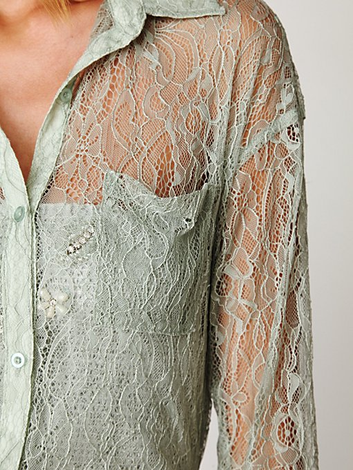 Lace Buttondown