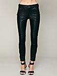 Rocker Vegan Leather Cropped Skinny