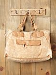Sunbleached Leather Trim Tote