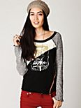 Long Sleeve Mixed Graphic Baseball Tee