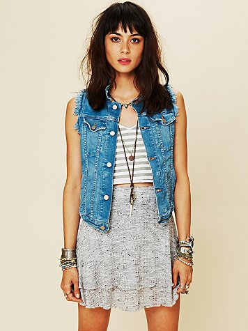 Cut Off Denim Vest