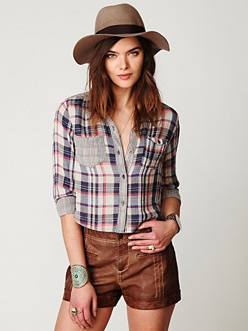 Plaid Crop Buttondown