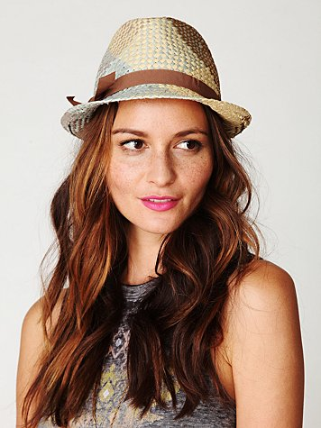 Stef Plaid and Straw Fedora