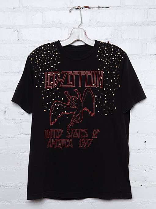 Vintage Studded Led Zeppelin Tee in catalog-nov-11-catalog-nov-11-catalog-items