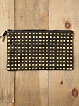 Studded Zip Clutch