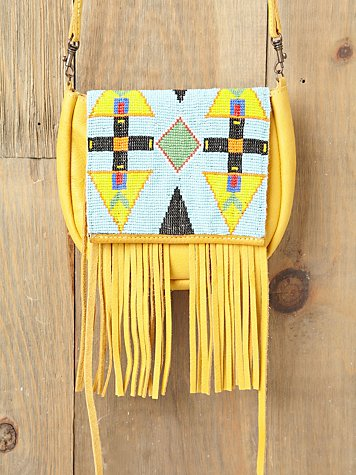 McFadin Canary Beaded Crossbody