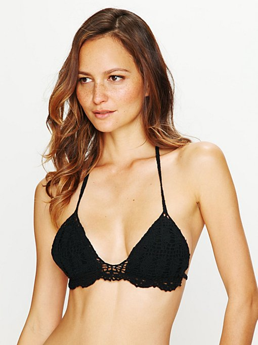 Lisa Maree Triangle Bikini Top in Halter-Bikinis