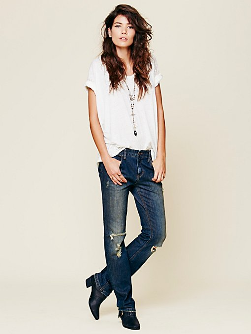 FP High Rise Skinny in denim