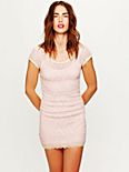 Short Sleeve Cage Shift Dress