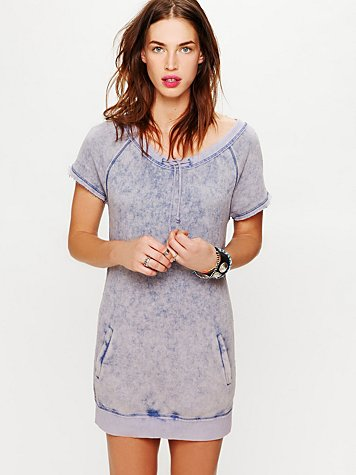 Free People We The Free Short Sleeved Drawstring Tunic