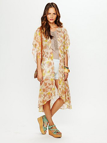 Printed Long Bed Jacket