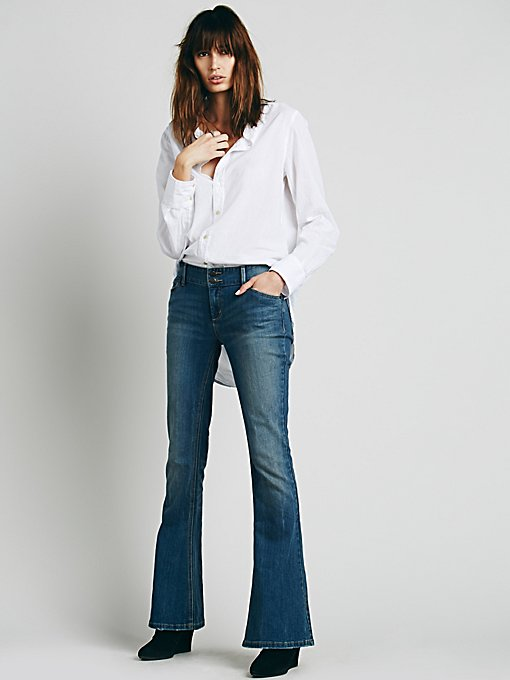 5 Pocket Skinny Flare in denim