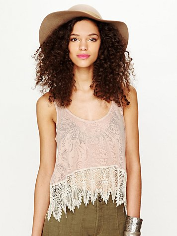 Burnout Tea Room Crop Top