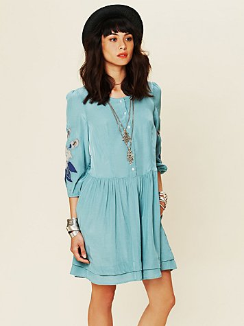 Free People Retro Sleeve Dress