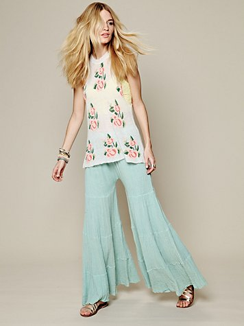 Free People Sea Drift Tiered Wideleg