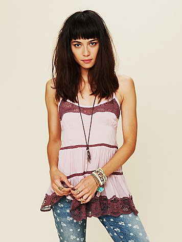 Intimately Free People Viscose Voile Tiered Babydoll Cami