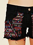 Guipil Rodeo Cutoff Shorts