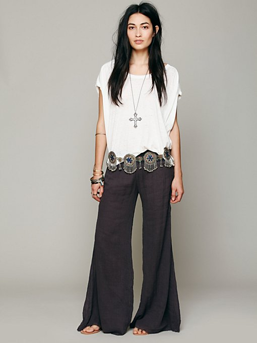 FP ONE Solid Gauze Hippie Pant in Wideleg-Flare-2