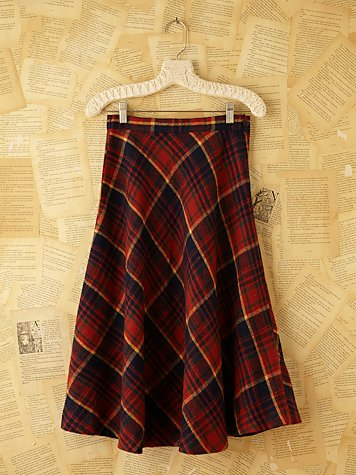 Free People Vintage Plaid Skirt