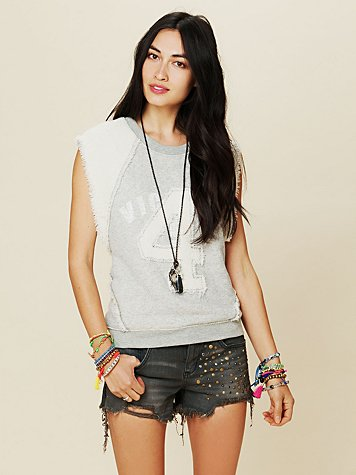 Free People Golden Hippie Studded Cutoff Shorts