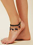 Stazi Drop Gem Ankle Bracelet