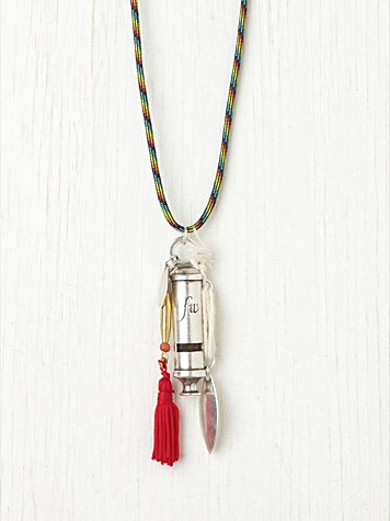 Rope and Lure Whistle Necklace