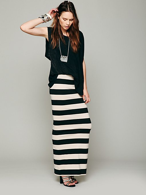 FP Beach Rugby Stripe Column Skirt in maxi-skirts