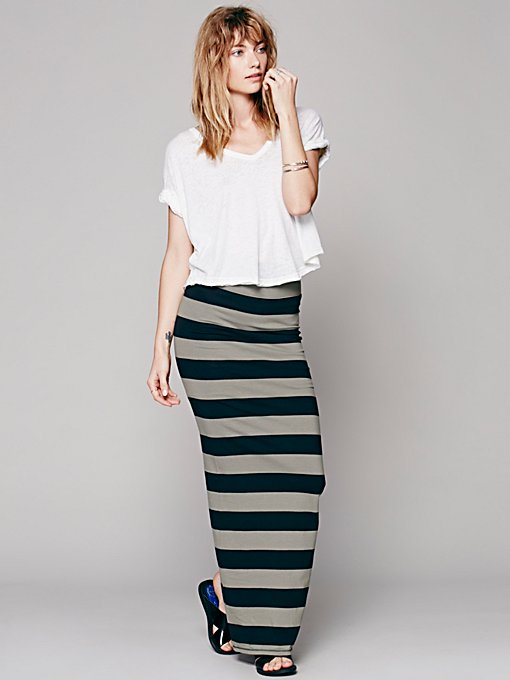 FP Beach Rugby Stripe Column Skirt