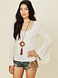 Beaded Bell Sleeve Top
