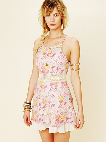 Free People Francesca Fit and Flare Dress