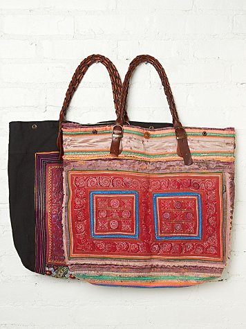 Elliot Mann Tribal Brocade Tote