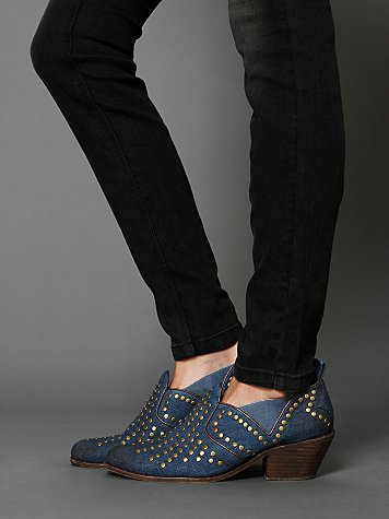 Jeffrey Campbell Cline Denim Ankle Boot
