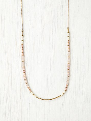 Gamine / Butik Multi Bead & Metal Necklace