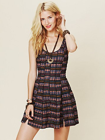Union Plaid House Dress